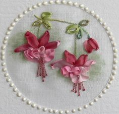Wonderful Ribbon Embroidery Flowers by Hand Ideas. Enchanting Ribbon Embroidery Flowers by Hand Ideas. Embroidery Designs, Ribbon Embroidery Tutorial, Silk Ribbon Embroidery, Crewel Embroidery, Vintage Embroidery, Cross Stitch Embroidery, Embroidery Patterns, Embroidery Supplies, Embroidery Books