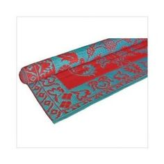 Floormat Classic Duo Tone in Red / Turquoise - 4' x 6'