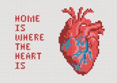 Awesome cross stitch heart