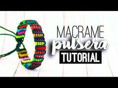 Pulsera reciclada rellena ♥︎ macramé | Tutorial | How to - YouTube
