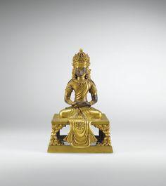 Qing Emperor Qianlong gilt copper Buddha Amitayus seated | Lot | Sotheby's