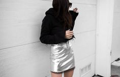 metallics & vinyl obsession »»» www.fashionlush.com  #fashionlush #fashionblogger #metallics