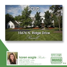 This Russell home is sold! Congratulations to the sellers and new owners.