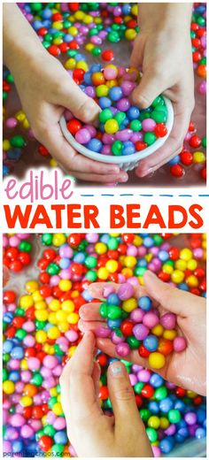 Edible water beads: a taste-safe alternative to traditional waterbead play
