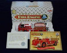 CORGI American Classics Fire Engine American LaFrance 700 BETHPAGE  NIB w/COA #Corgi #FireEngine #Truck