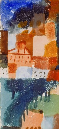 Hauser mit Baumallee, 1915 Art Print by Paul Klee