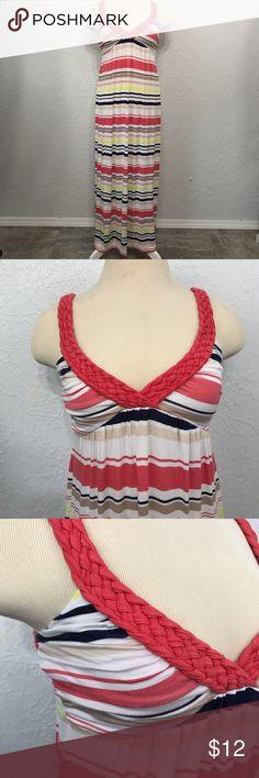 15c974d991df7 Design History V-Neck Maxi Dress Braided Straps Design History V-Neck Maxi  Dress