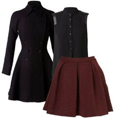 oxblood skirt, fall outfit