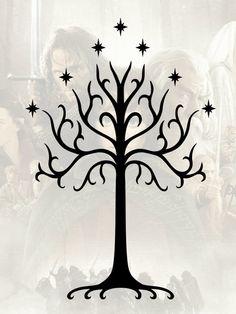 el arbol blanco de gondor - Buscar con Google & Lord of the Rings (LOTR) Door to Moria Machine Embroidery Design ...