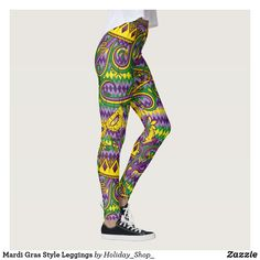 703d5fcce9c9d Mardi Gras Style Leggings Mardi Gras Outfits, Mardi Gras Costumes, Custom  Leggings, Best