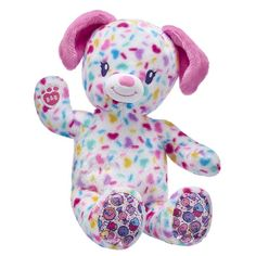 Candy Paws Valentine's Day Puppy Stuffed Animal | Build-A-Bear® Homemade Stuffed Animals, Giant Stuffed Animals, Teddy Bear Cartoon, Teddy Bears, Valentines Day Dog, Teddy Bear Clothes, Pet Puppy, Puppies, Princess Toys