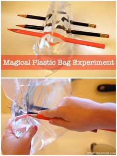 """The Plastic Bag Experimentis awesome! It's doesn'ttake a lot of time and chances are good that you have all the """"ingredients"""" around the house. I did this with my three and a half year old, and it would be relevant for preschoolers and elementary-age children. The idea that we're testing here is what will …"""