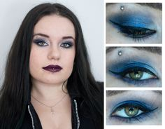 264bfa20d45525 blue gothic make up with Kat Von D products