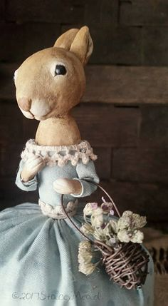 The Goode Wife of Washington County: Life's Pace  ©2017 Stacey Mead Paperclay Primitive Rabbit