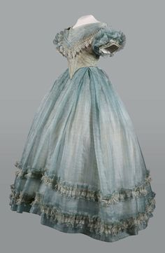 Evening dress, 1860′s From the Musée de la Mode, AlbiFripperies and Fobs