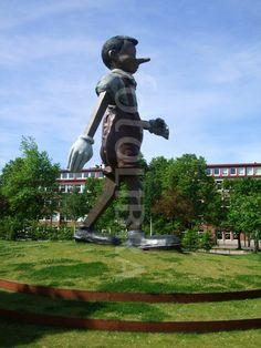 Pinocchio statue in Boras Sweden.