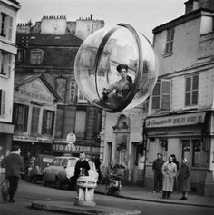 vintage fashion bubble over paris