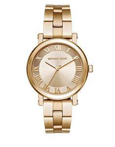 Michael Kors Norie Goldtone Stainless Steel Bracelet Watch Women's Gol