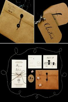Like the handwritten and brown paper element of it.