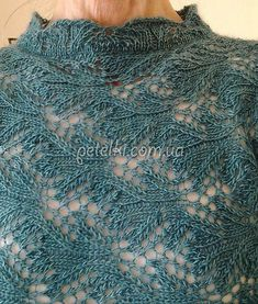 Beautiful knitting needle pattern for pullover Knitting Charts, Lace Knitting, Knitting Stitches, Knitting Patterns, Crochet Patterns, Knitting Needles, Shawl Patterns, Lace Patterns, Stitch Patterns