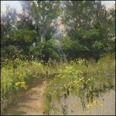 "Prairie Path by Lisa Stauffer Pastel ~ 8.5"" x 8.5"""