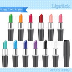 Lipstick clipart, commercial use, makeup clipart, cosmetics clipart, lip stick graphics Bright Lipstick, Lipstick Colors, Makeup Clipart, Clip Art Pictures, Clips, Art File, Card Making, Commercial, Make Up