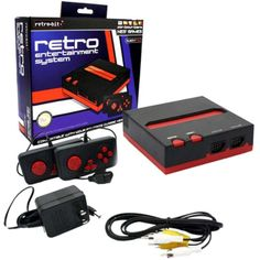 ORIGINAL New Retron 2 System - Nintendo NES Super Nintendo SNES - BLACK / RED  #RetroBit