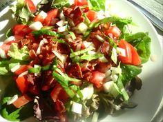 Tomato and Bacon Salad in Bibb Lettuce Cups