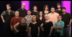 Face Off season 10 cast!  Back row: @johnnyleftwich  @robertlindsayfx  @kinneyeffects  @jenlocks  @cpt.breach  Middle row: @robseal_5341  @anthonycanonica  @voncox  @waltimusprime  @njoroge66  Front row: @melanie_licata  @annacalimakeup  @feralworks  @gregs_arts  Tune in to SyFy this Wednesday to catch episode 2 when we take a departure from the galaxy of bounty hunters and bring to life whimsical characters from from the world of candy board games and old men's retirement watches…