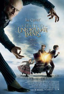 Lemony Snicket's A Series of Unfortunate Events is a 2004 Adventure, Comedy film directed by Brad Silberling and starring Jim Carrey, Meryl Streep. Series Poster, Poster S, Book Series, See Movie, Movie Tv, Dreamworks, Jim Carrey Movies, Les Orphelins Baudelaire, Baudelaire Children