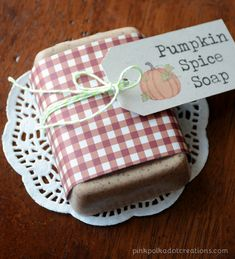 Pumpkin Spice Soap.