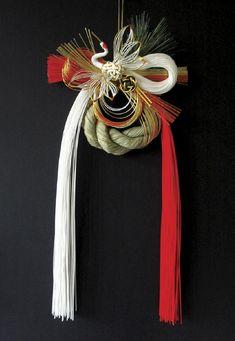 Japanese Party, Japanese New Year, Turning Japanese, Ikebana Flower Arrangement, Ikebana Arrangements, Flower Arrangements, Straw Decorations, New Years Decorations, Japanese Ornaments