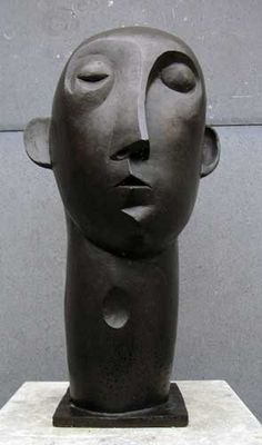 Mannenkop - Peter Harskamp 1951 Sculpture Head, Steel Sculpture, Modern Sculpture, Abstract Sculpture, Famous Sculptures, Sculptures Céramiques, Ceramic Sculpture Figurative, Plastic Art, Art Carved