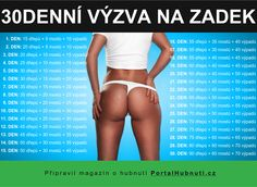 30denní výzva pro sexy zadeček 30 Day Challange, Sexy Ass, Thighs, Challenges, Workout, Swimwear, Body Fitness, Tutorials, Sport