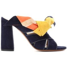 Chloé Nellie Suede Mules ($685) ❤ liked on Polyvore featuring shoes, suede mule shoes, mule shoes, suede mules, chloe shoes and suede shoes