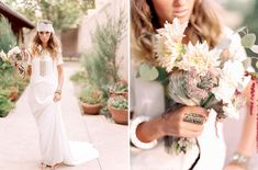 dahlia bouquet by Lace and Lilies, southwest wedding