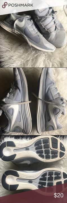 MEN'S NIKE LUNAR FLASH + White/ anthracite color combo • synthetic & breathable mesh material • great condition w/ some washable dirt stains (in pics) • ALSO SELLING ON MERCARI Ⓜ️ Nike Shoes Athletic Shoes