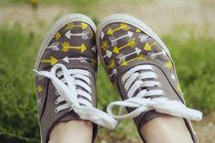 Customiser des chaussures en toile