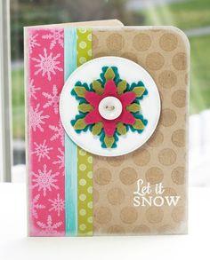 Snowflake Splendor; Darling Dots; Snowflake Splendor Die-namics; Pierced Circle STAX Die-namics - Lisa Johnson