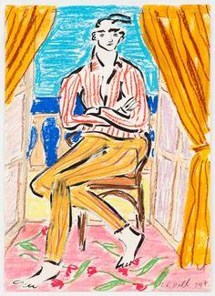 Luke Edward Hall - Flowers on the Terrace - Fashion Illustration Gallery Edward Hall, Art Hoe, Sketchbook Inspiration, Art Design, Art Fair, Figure Painting, Art Sketches, Pastel, New Art