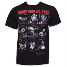 The Walking Dead Know Your Walkers Shirt