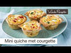Simpele hartige taartjes met courgette en paprika, ook ideaal om restjes op te maken