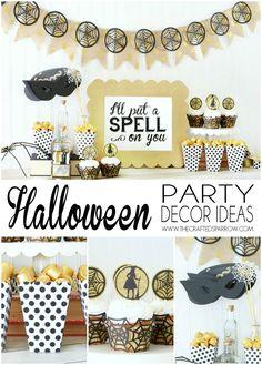 Easy Halloween Party Decor Ideas - thecraftedsparrow.com
