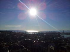 Tramonto su Genova, Italia