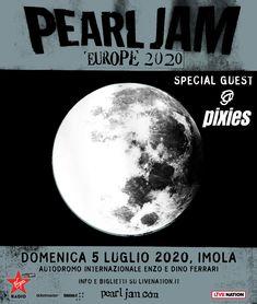 Pearl Jam – 5 luglio 2020 Imola – Campania Tickets Pearl Jam, Pixies, Pearls, Beads, Beading, Pearl