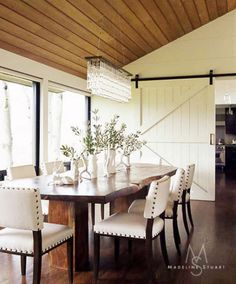 Love this farm-house style, would look good with stained concrete floors. Repinned from Melanie Moore