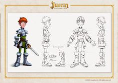 OSOKARO: JUSTIN AND THE KNIGHTS OF VALOUR IV: JUSTIN CHARACTER DESIGN