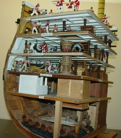Model Ship Building Pirate Ships Sailing Hms Victory Wooden Boats Cutaway Tall