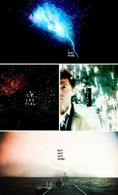 Castiel: –There's a lot more in me now –Than a lost heaven's purpose –And the universe's star dust. #spn