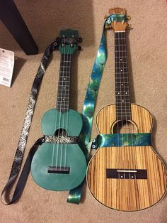 DIY ribbon ukulele straps